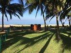 Garden/lawn to the beach gate.