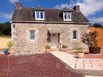 Maison typique Bretonne a la campagne