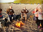 This family chose to have their dessert be roast marshmallows at the beach. We accomodate families.