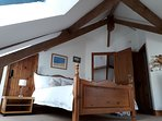 Another view of the upstairs double room in Corner Barn