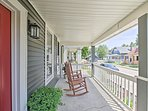 Sip your morning coffee as you sit in the rocking chairs on the porch.