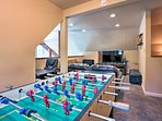 Challenge your companions to a game of foosball!