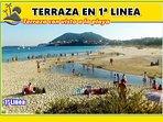 Terraza 1ª Linea de la mejor playa (Langosteira)