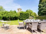The large garden is perfect for the warmer months of the year
