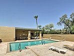 The townhome is in the Casa Real complex with access to pools and tennis courts.