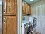 Keep all of your clothing clean with the in-unit washer and dryer.