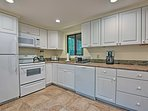There is ample space for extra cooks in the kitchen.