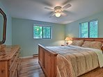 The second bedroom offers an additional queen bed.