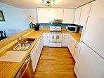Galley kitchen w/plenty of storage