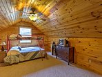 The kids are sure to enjoy staying in this tree house-type room!