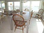Dining Area with Views of Deck and Nantucket Sound