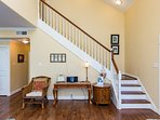 Staircase to second floor with master suite and Flip flop room and 3rd bathroom.