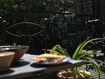 Sit out in the garden for a light lunch and more