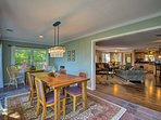 The open floor plan is highlighted by the ample natural light pouring in.