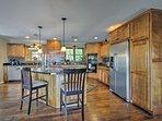 Prepare home-cooked meals in the expansive fully equipped kitchen.