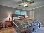 A plush king bed in the master bedroom promises blissful sleeping every night.