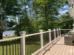 Brand new front deck with a view of the lake