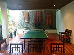 Enjoy a game of table tennis in our 120m2 games room.