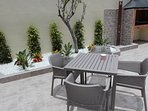 Terrace with outdoor shower and BBQ