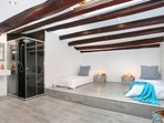 Attic double bedroom: beds can be set as one double or two singles