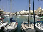 Marina boat trips restaurants and shops 10 to 15 minutes walk