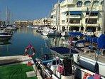 Marina just 10 to 15 minutes walk Restaurants.