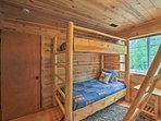 With 2 bunk beds, the second bedroom sleeps 4.