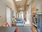 Relax inside this well-appointed unit to beat the heat!