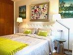 2nd Bedroom with Queen size bed 180x200 with en suite full bathroom