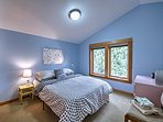 The 'Polka Dot Room' is perfect for 2 additional guests.