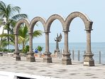 The Arches, and guardian Angel on the Malecone