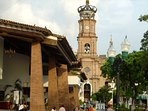 Th landmark of the city the famous church