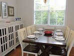 The dining area provides the right atmosphere for planning or rehashing the day.