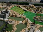 One of the crazy golf courses on the esplanade.