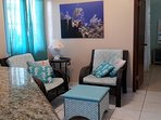 Unwind in charming living area, Cable TV & WIFI