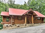This classic cabin offers all the comforts of home.