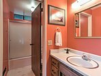 A second full bathroom provides added space to get ready for the day.