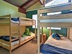 Kids love the bunk room.