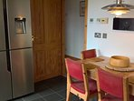 Kitchen with American style fridge freezer