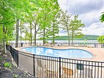 The townhouse is set in the Boulder Lake Club with pool and lake access.