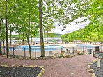 For an additional fee, you can swim in the heated pool and boat on the 270-acre lake.