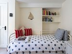 Kids room or suitable for an adult with a pull out bed for an additional person