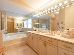 Master bath with jacuzzi tub and very large walk in closet