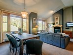 Bright and spacious with vaulted ceilings