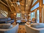 With high-beam ceilings, the living area will easily become your favorite room.