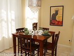 Breakfast nook high top table seating four