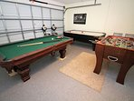 Games Room - great entertainment for all: a frame of pool-who's the champ!