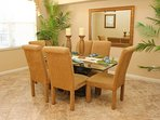 Formal dining room for six guests