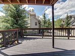 Enjoy the deck to relax on after a long day of activities in Keystone.