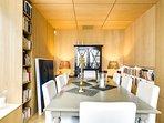 The elegant dining area.